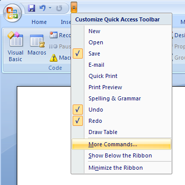 Assign a Macro to a Toolbar