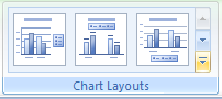 Or click the More list arrow in the Chart Layouts group, and then click the layout you want.