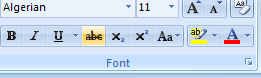 Strikethrough format button