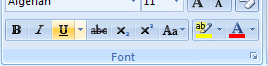 Underline format button