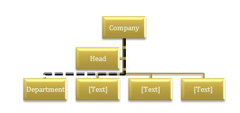 Change organization chart lines to dotted lines smartart shape