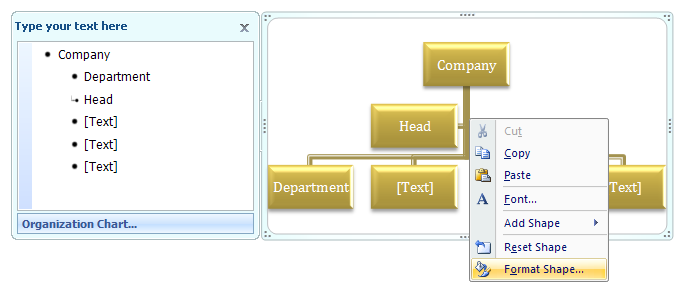 Change organization chart lines to dotted lines smartart shape then click format object ccuart Choice Image