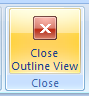 Then click the Close Outline View button.