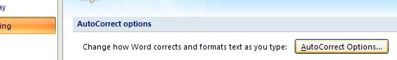 Then click AutoCorrect Options.