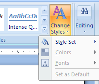 Click the Change Styles button.