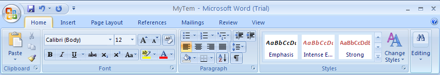 word 2007 dissertation styles
