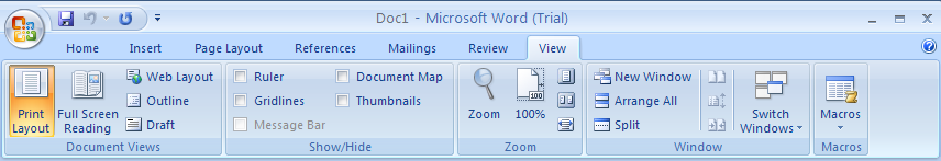 Changing Document Views