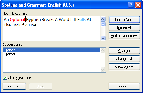 spell check word 2007