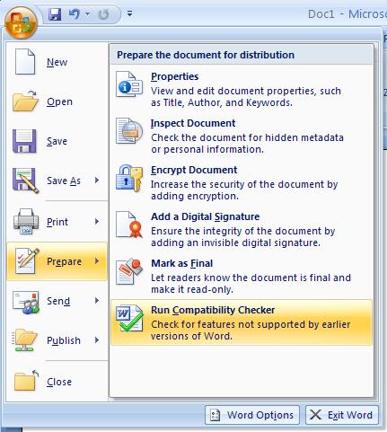Then click Run Compatibility Checker.