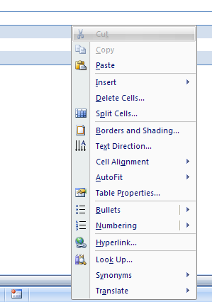 Or Press Shift+F10 to display the shortcut menu for a selected command.