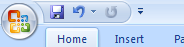 The Quick Access Toolbar and Mini-Toolbar display frequently used buttons