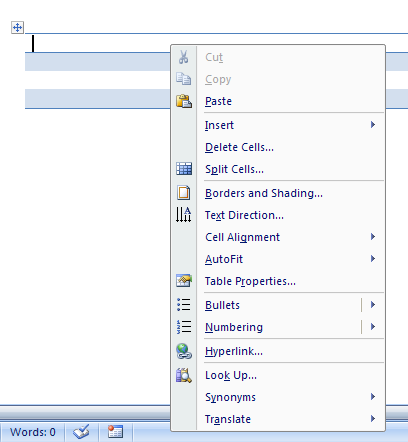 You can also open a shortcut menu by right-clicking a program element.