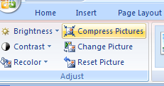 Click the Compress Pictures button.