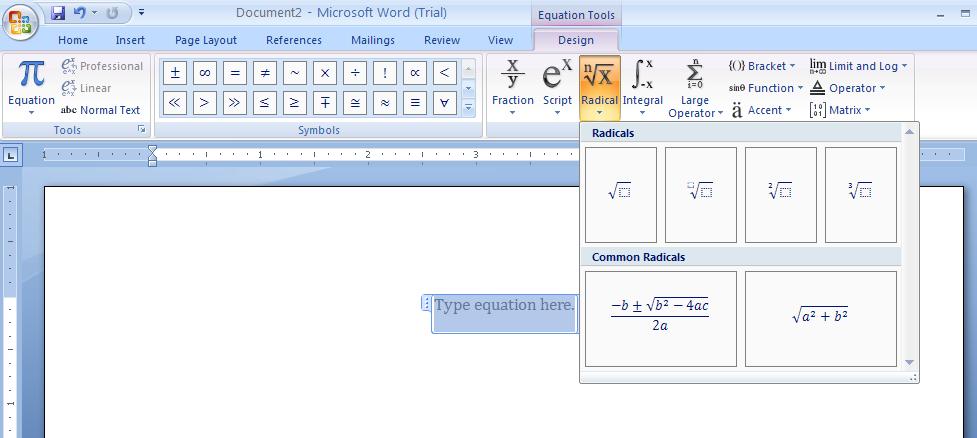 create an equation equation documentation microsoft office rh java2s com Microsoft Equation Editor Word 2003 Math Equation Editor
