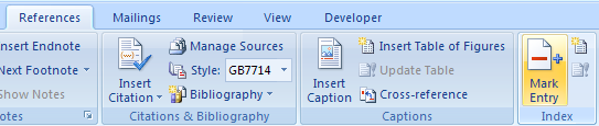 how to create an index in microsoft word