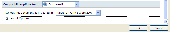 Click to select or deselect any options to fix compatibility from the list.