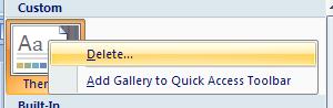 Then click Delete