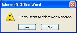 Then click Delete again to confirm the deletion.