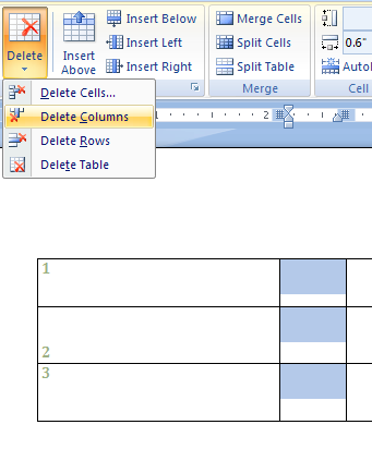 how to move align split table in word