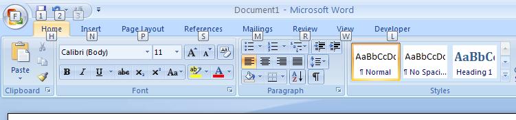 Display KeyTips