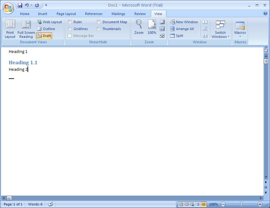 ms word 2007 trial version