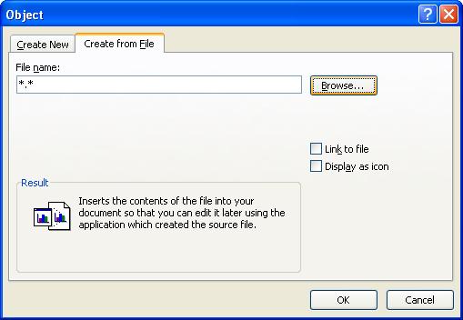 Click Browse, locate the file