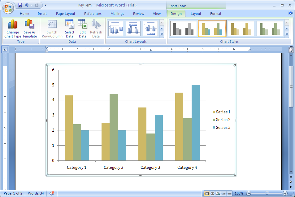 Insert and Create a Chart Chart Create Chart Microsoft – How to Make a Chart in Word