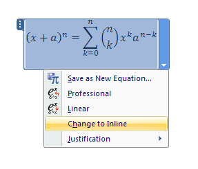 Click Saves the equation as a new building block in the Equations gallery.