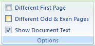 Then select the Different Odd & Even Pages check box.