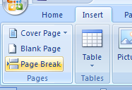 Insert a Page Break
