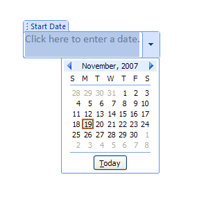 Inserting A Date Picker Control Into Your Template
