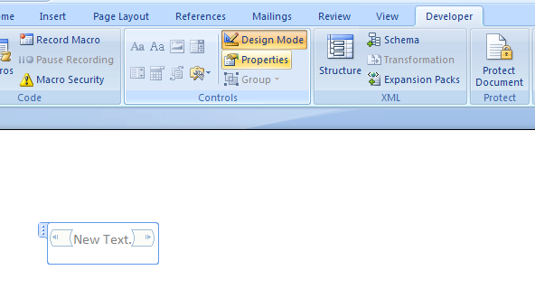 click properties to see the dialog box