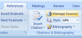 Click the Manage Sources button.