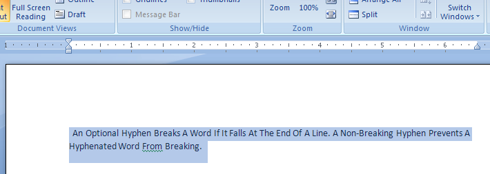 Paragraph Tabs