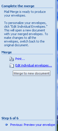 Personalize and Print the Mail Merge