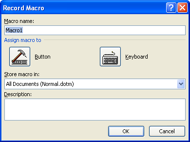 Or assign a button to run the macro.