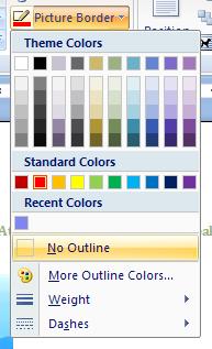 Then click No Outline.