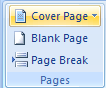 Then click the Cover Page button