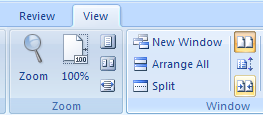 In the Window group, Click Reset Window to reset the window position.