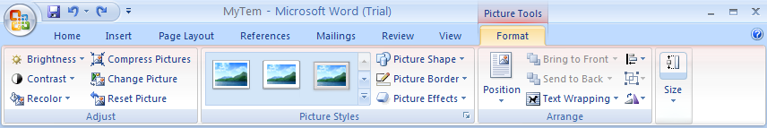 Click the Format tab.