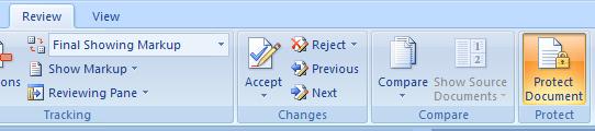 Restrict Formatting Changes