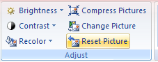 Then click the Reset Picture button.