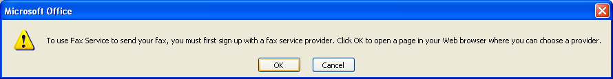 Signed up with an Internet Fax service if necessary.