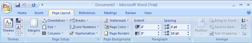 Set the Page Orientation and Size