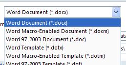 Then click the default format.