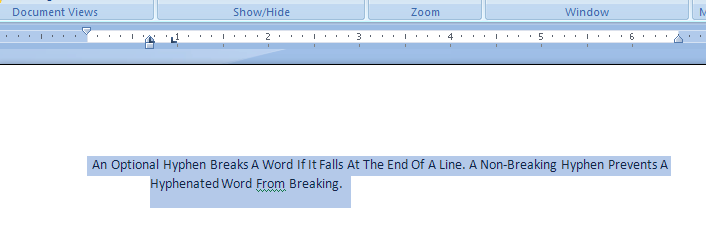 Click the paragraph or select multiple paragraphs to indent: