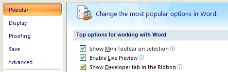 Check the 'Show Developer tab in the Ribbon'