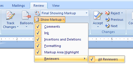 Show individual or All Reviewer's contributions.