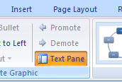 Click the Text Pane button show the Text pane.