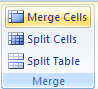 Then click the Merge Cells button.
